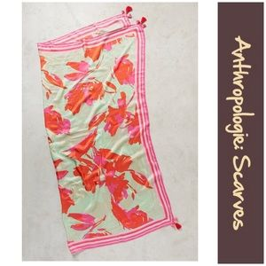 "Anthro ""Bright Floral Square Scarf"""